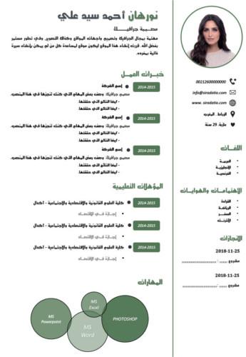 سي في عربي جاهز للتعبئة