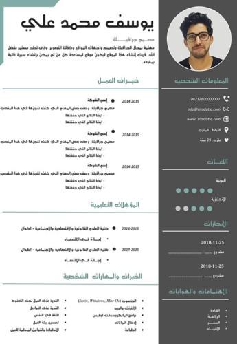 سيرة ذاتية جذابة بالعربي
